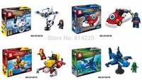 10sets SY207 Super Heroes Avengers DIY building block Captain Ironman Vs Batman Green Arrow minifigure with Submarine toys