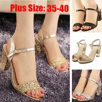 New 2015 Women Shose Sandals Slip-resistant Casual Platform Shoe Woman Gladiator Flip Flops Beach Gold Black Shoes Open Peep Toe