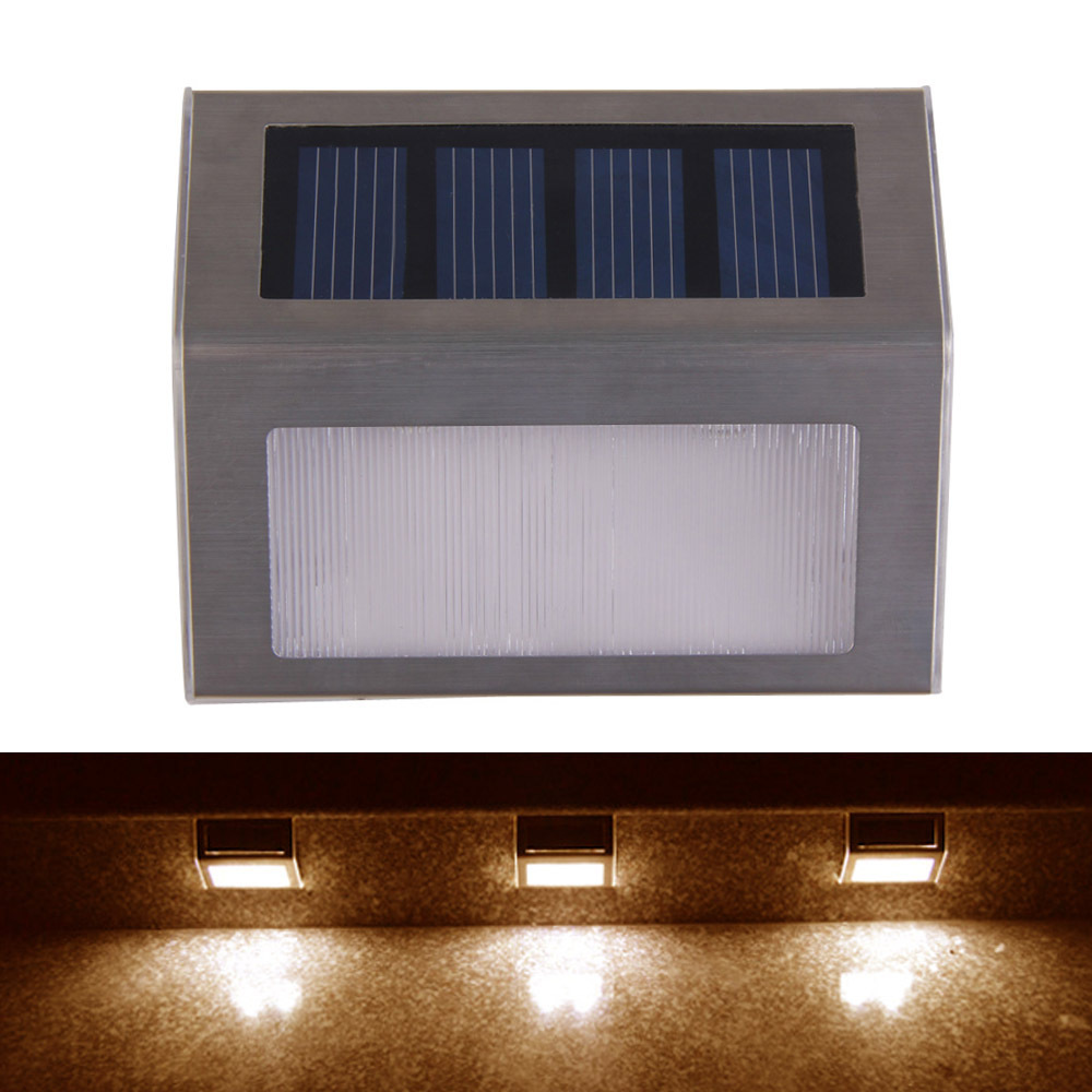 Solar Power 2 Leds Outdoor Waterproof Garden Pathway Stairs Lamp Light Energy Saving Led Solar Wall Lamp Warm White Cold White Solar Lamps