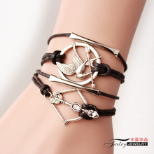 Arrow Couple handmade jewelry national wind tide hungry bird bracelet jewelry wholesale BZ034 weave Cupid