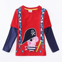 peppa pig t shirts children clothing  brand kids wear new design lty long sleeve baby boys shirts in spring/autumn A5626