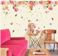 9163 flowers butterflies birds wall stickers decoration decor home decal fashion cute waterproof bedroom