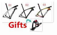 Black white look 986 mountain MTB Full T1000 carbon fiber bike frame 26er and 29er bike complete frameset with trunk look