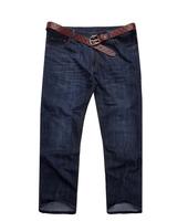 Men's Fashion Jeans Big Size Jean X-4XL-5XL Big Yards Man Pants Wide Leg Pants Mid Jean brand Men's pants  Zipper fly Straight