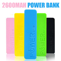 Free Shipping Perfume Power Bank 2600mah Portable Battery Charger Powerbank For SAMSUNG IPHONE 4s 5 5C Nokia With USB Cable