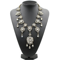 2015 NEW JC original high quality  full crystal Necklaces & Pendants crystal costume statement crystal pendant Necklaces