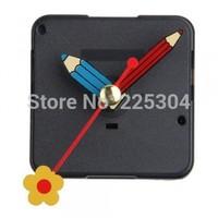 Free Shipping 20pcs/lot Quartz Silent Clock Movement Mechanism Flower Hand DIY Repair Part Kit