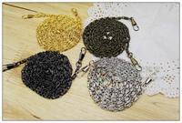 Bronze silver gun black gold 120CM Metal Million Words chain for purse handles DIY Handbag Accessories Necessary handle 20pcs