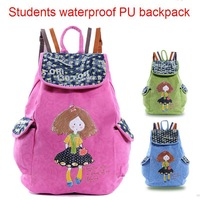 Wholesale Students backpack waterproof PU school backpack schoolbag female leisure sports backpack girls backpack 5 pcs/lot