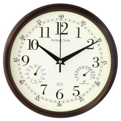 9 pulgadas de pared silencioso moderno con la temperatura - Relojes cocina modernos ...