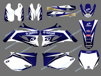 DST0019 New Style TEAM GRAPHICS&BACKGROUNDS DECALS STICKERS Kits for YAMAHA YZ250F YZ450F 4 STROKES 2006-2009