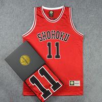Classic Comic SLAM DUNK Shohoku High School Basketball Team Number 11 Rukawa Basketball Jersey With Original Box