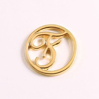 """Wholesale 10PCS Floating Charm Origami Owl """" letter F """" (Silver, Gold) Window Plate, fit for 30mm Locket Jewelry pendant"""