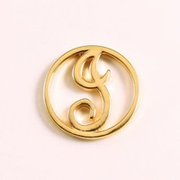 """Wholesale 10PCS Floating Charm Origami Owl """" letter I """" (Silver, Gold) Window Plate, fit for 30mm Locket Jewelry pendant"""