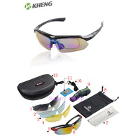 Professional Polarized Cycling Sun Glasses Bike Casual Goggles Outdoor Sports Bicycle Eyewear Sunglasses UV 400 With 5 Lens