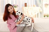 free shipping ,stuffed toy simulation animal 60cm prone dalmatian dog plush toy lying dog birthday gift d7904