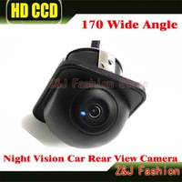 170 Wide Angle Night Vision Car Rear View Camera Front Camera Viewside Camera Reverse Backup Color Camera 6M Free Shipping ZJ