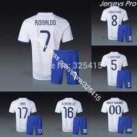 Camisas de futebol portugal away white 2014 football uniforms kit cristiano ronaldo jerseys fabio coentrao Joao Moutinho postiga