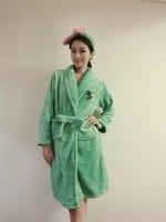 2014 autumn and winter fashion heart high quality plush princess robe sleepwear