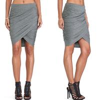 2015 European style New Fashion Women Length Skirt Lady Sexy High Waist Womens A-Line Skirts DQ124