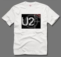 Personalized Rock  Band series U2 short sleeves T-shirt 100% cotton summer short sleeve T-shirt