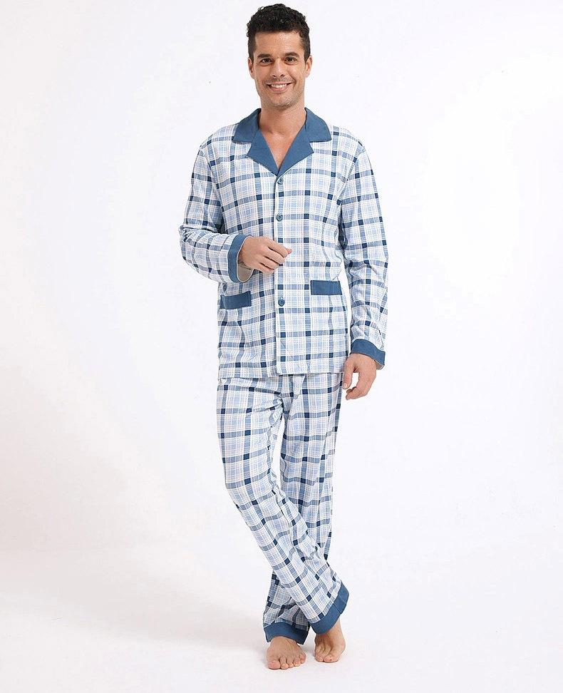 Mens Pajama Pants With Pockets Men Cartoon Pajamas Homewear Pajama Pants Drawstring Pocket Spring Grid Turn