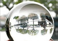 80mmStand Asian Rare Natural Quartz Clear Magic Crystal Healing Ball Sphere