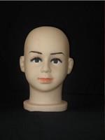 Kid's Hat Wig Sunglasses Display Mannequin Baby Plastic Head Eyelash Cir 48cm