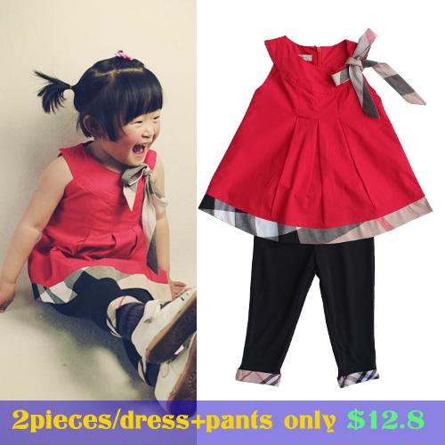 AliExpress.com Product - wholesale kids clothes suit children summer clothes 2015 baby gilrs princess dress + Leggings&pants brand infant clothing sets