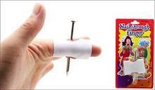 Convenient New Prank Joke Toy Fake Nail Through Finger Trick Halloween Kids Children Gags Practical Jokes(China (Mainland))