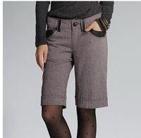 S M L 2015 Women Fashion Wool Pockets Capris Boots Cut Lady Winter Preppy Boots Cut 3258