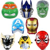 Hot Selling The Avengers TMNT Transformers LED Eye Light Full Face Mask Masquerade Cosplay Costume Halloween 8 design
