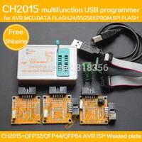CH2015 Intelligent High Speed USB Programmer+TQFP32 TQFP44 TQFP64 AVR ISP interface with welded plate Programming AVR MCU