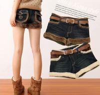 S M L XL 2XL 3XL2015 Women Fashion Demin Mid Waist Shorts Lady Preppy Pockets Boots Shorts 3335