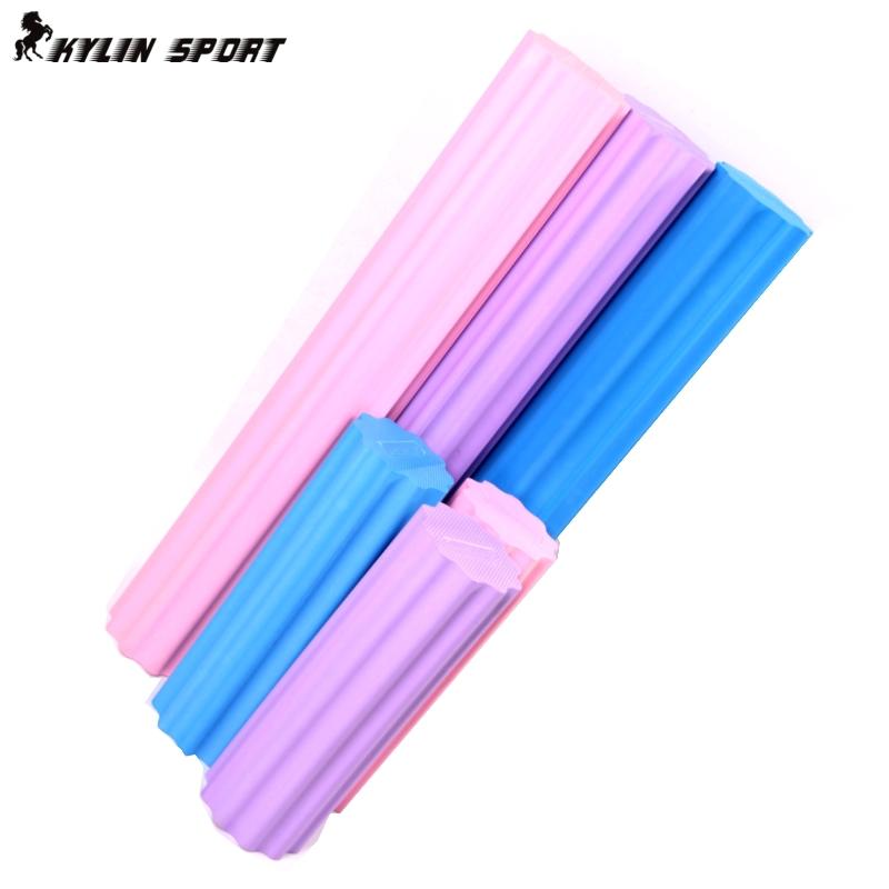 45cm foam roller Plum-shaped solid yoga column massage to relax column yoga stretching fitness bar(China (Mainland))