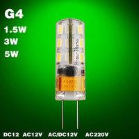 Led bulb G4 Led Bulb Lamp Led G4 3W 5W Led  Light G4 12V Led bulb 220V 10PCS/lot cree chip chandelier Replace Halogen DC AC