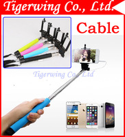 Extendable portable Handheld 3.5mm Cable Wired Shutter Switch For IOS IPhone &Android Samsung Camera Monopod Selfie Stick