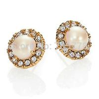 10 pairs K Secret Garden Faux Pearl Stud earrings New Arrival Fashion Jewelry for Women Female Stud Earrings Free shipping