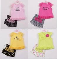 Retail Infantil Summer Clothing Set Top & Dot Shorts 2Piece Suit Little Gril Lace Cute Clothes Toddler Baby Girl Wear