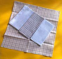 12PCS/LOT Cheap men's handkerchief  women 100% cotton pocket squares 40*40cm light color plaid soft hanky