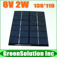6V 2W 2W PV Cell Module, Mini polycrystalline solar Panel charge for LED Solar garden lamp Wall light spot lighting