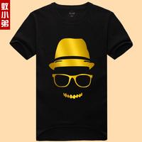 2015 Latest fashion gilt pattern short sleeve cotton t-shirt for men S-6XXL