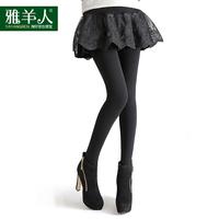 Yang Ya man new winter thick velvet lace leggings fake two models Eugen veil outer wear pants pants custom