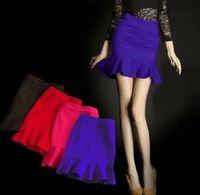 2015 S M L XL 2XL Women Fashion Empire Ruffles Bud Mini Skirts Lady Sexy Mermaid Skirts 3282