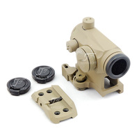 JJ Airsoft T1 / T-1 Red Dot with Killflash / Kill Flash , QD Mount & Low Mount (Tan)