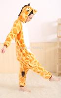 Animal cos Giraffe Pajamas Adult Women Men Flannel fleece hoodie Onesie Costume christmas clothes Halloween sleepsuit dress