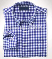 Free Shipping 2015 New Brand Design Spring&Summer Mens Plaid Shirt,Casual Slim Fit Stylish Dress Shirts For Men,Size M~XXL #7045