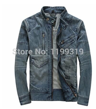 Men's New Spring Korean Slim Denim Male Jaqueta Jeans Masculina Patchwork Jacket For Men(China (Mainland))