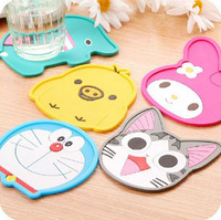 3 Pieces/Lot Multicolor Cartoon Silicone Pan/Cup Mat  Cooking Kitchen Be Used in car/ office/ Kitchen