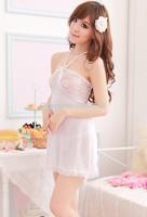New 212 Sexy Wings Nightgown White  Fashion Apparel Dress Garters Underwear  Women Anime Sleepwear Open Bra Porn Bodysuit